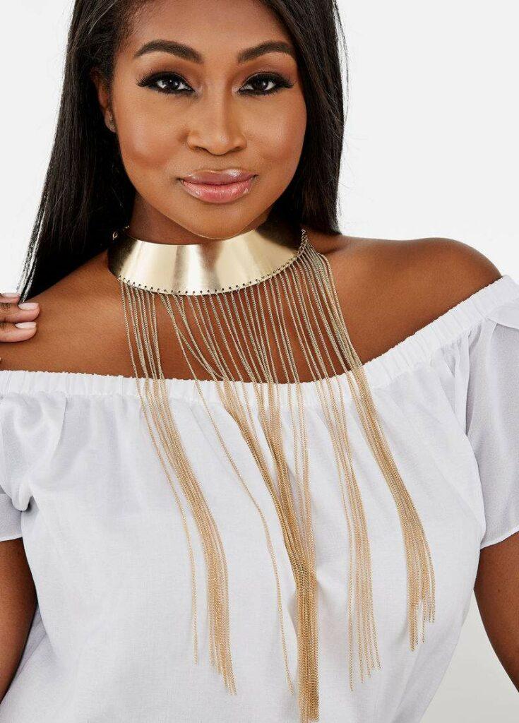 Multi Chain Collar Necklace