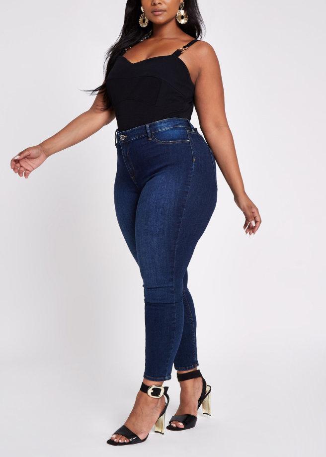Plus black buckle detail cami plus size bodysuit