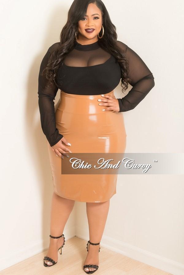 Plus Size Sheer Mesh Bodysuit