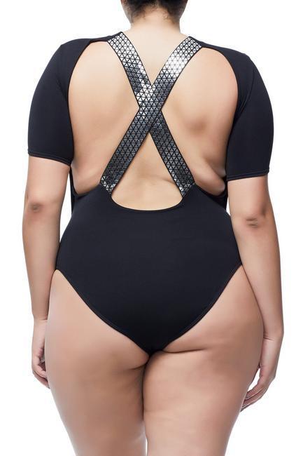The Geo Gladiator Tee Plus Size Bodysuit