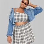 Wild Fable in Plus Sizes at Target- Wild Fable Women's Plus Size Plaid Strappy Cropped Top