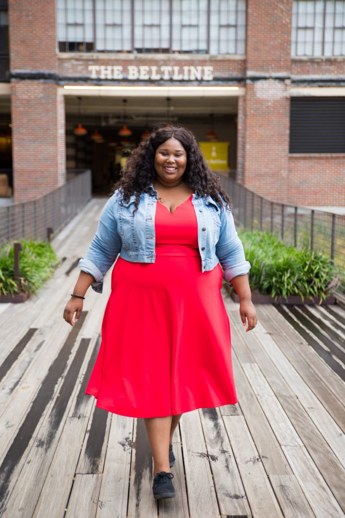 Show Me, Style Me: One Plus Size Red Dress- 3 Looks! Day Time Casual