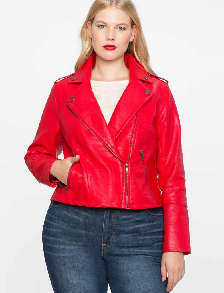 Eloquii Moto Plus Size Leather Jacket