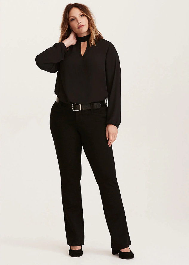 STUDIO SIGNATURE PONTE STRETCH TROUSER