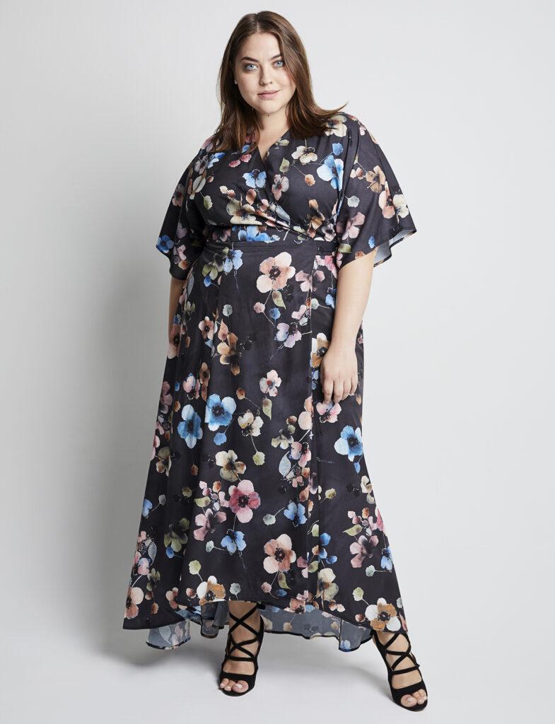 Gemma Charcoal Maxi Dress