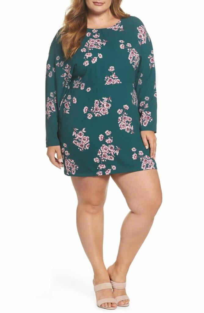 Leith Plus Size Floral Minidress