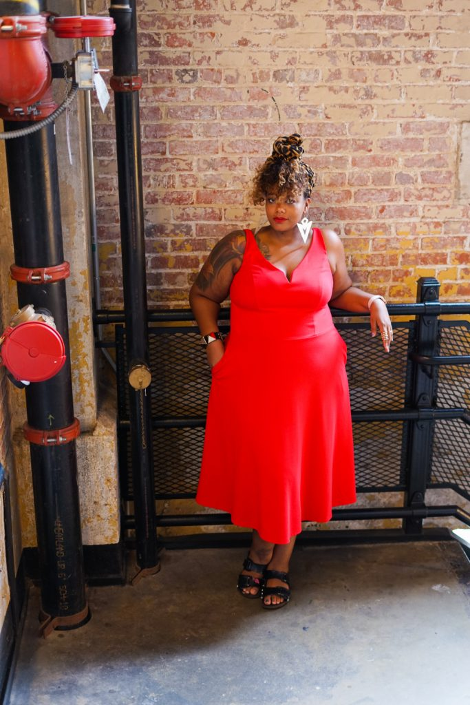 Show Me, Style Me: One Plus Size Red Dress- 3 Looks! Day Time Cute & Casual Brunch