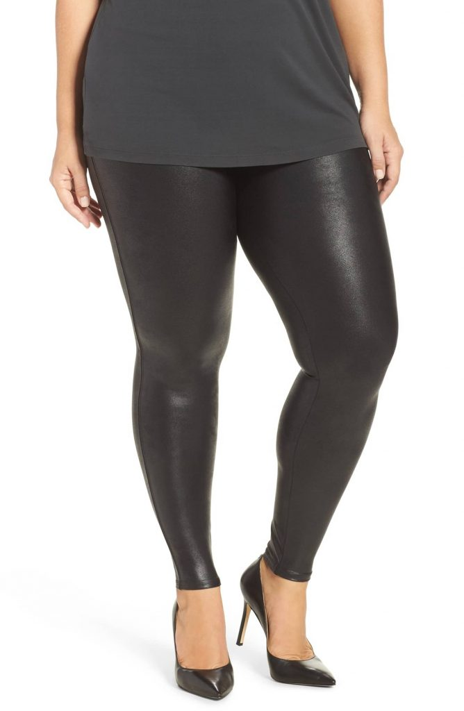 Spanx Plus Size Faux Leather Leggings