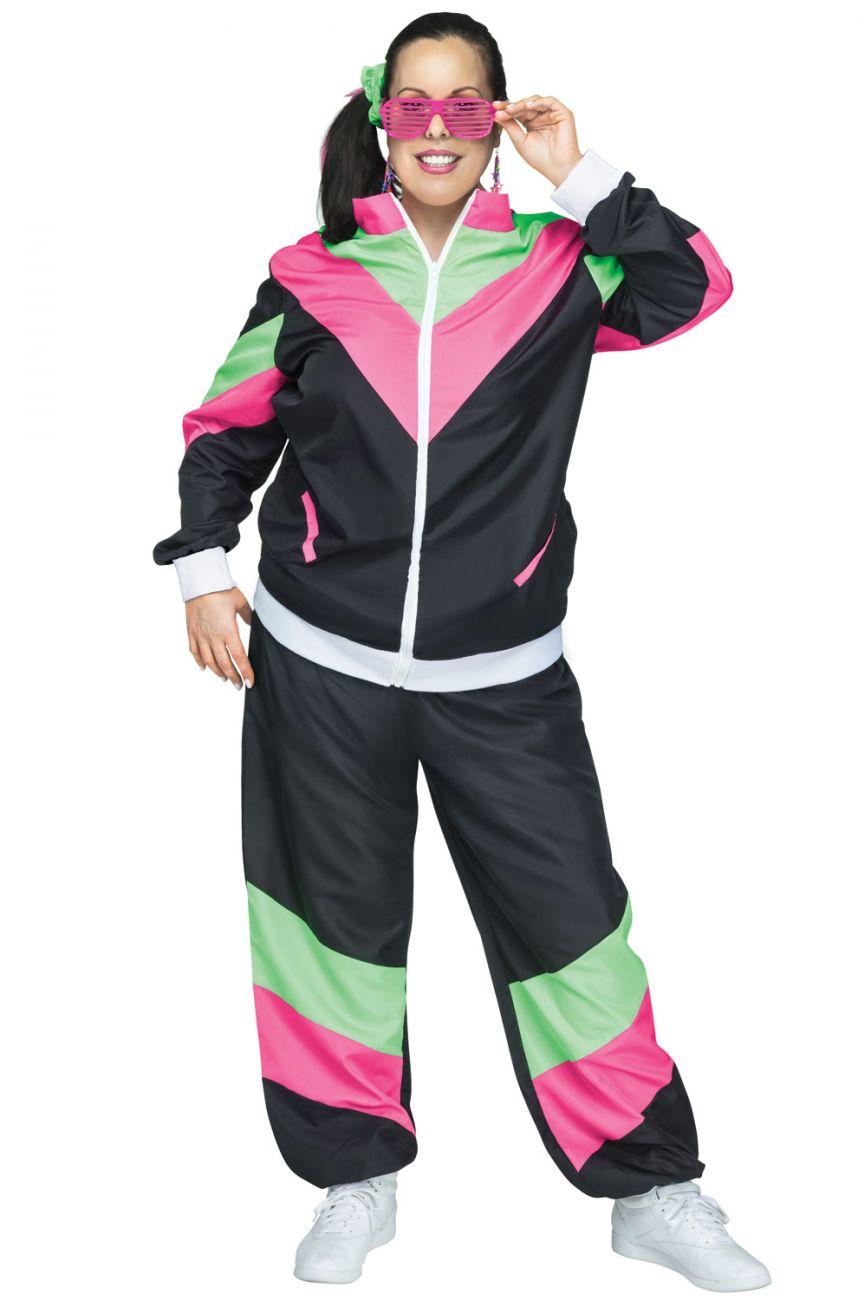 80s Female Track Suit Plus Size Costume at PureCostumes.com
