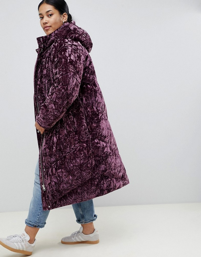 4117993f850 Fall s Bold Hued and Non Black Plus Size Coats to rock-ASOS DESIGN Curve  longline