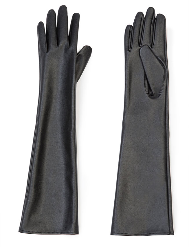 Elbow Length Leather Plus Size Gloves