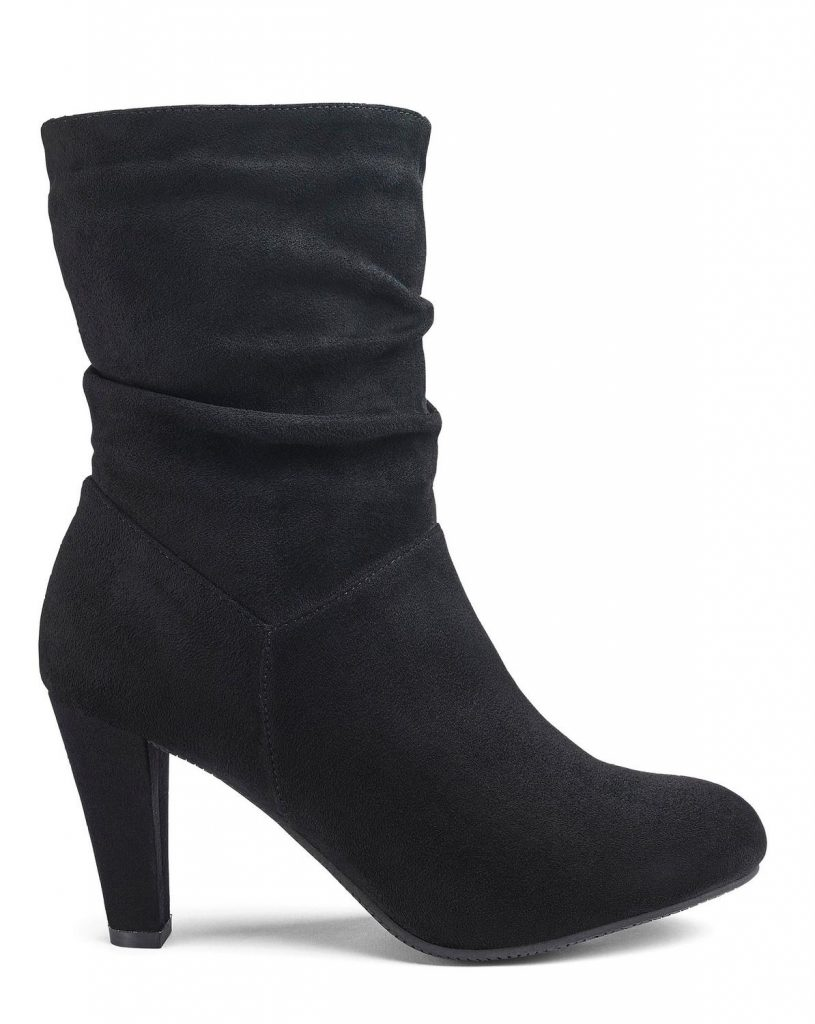 13 Must Rock Wide Width booties for the Fall- Flexi Sole Ruched Mid Wide Width Boots