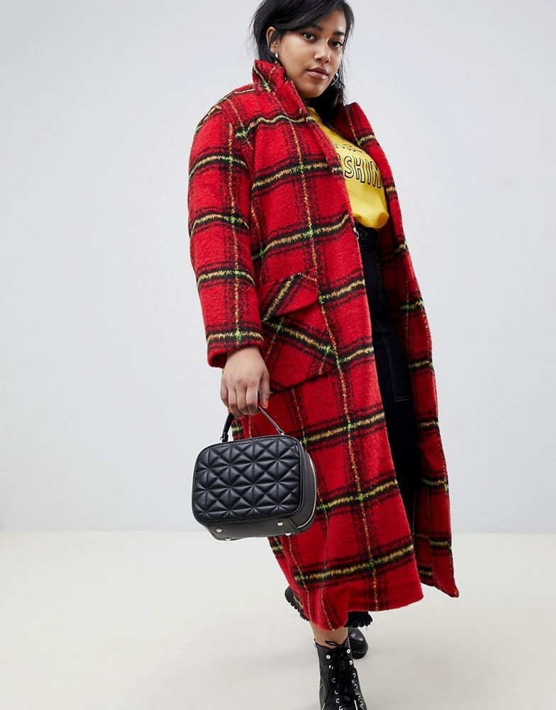 283cb1bc095 Fall s Bold Hued and Non Black Plus Size Coats to rock- Glamorous Curve  longline coat