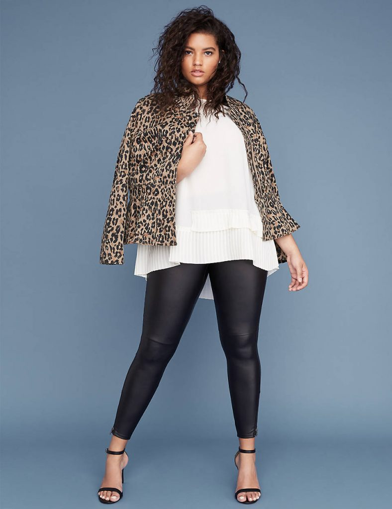 Love a Plus Size Leopard Print, then Check These Out- Leopard Print Sateen Peplum Jacket
