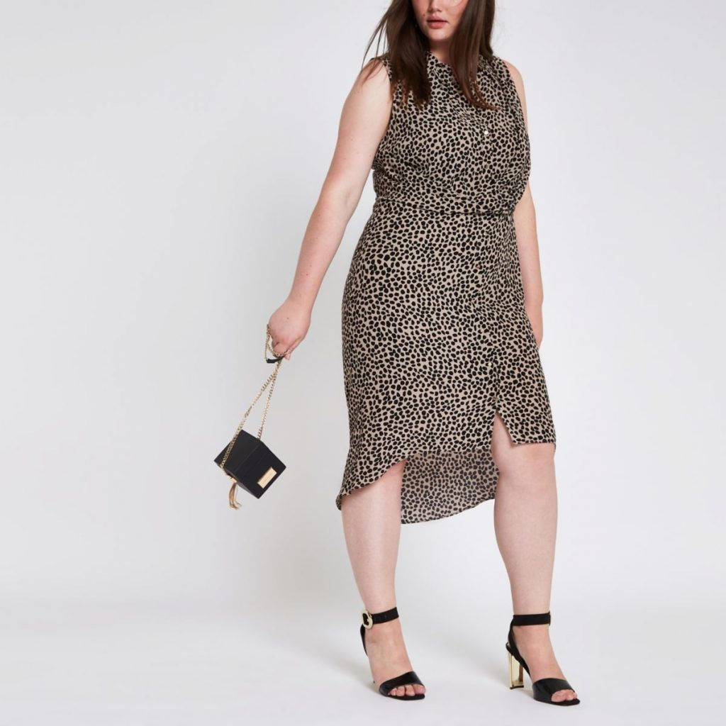 Love a Plus Size Leopard Print, then Check These Out- Leopard Print Twist Front Shirt Dress