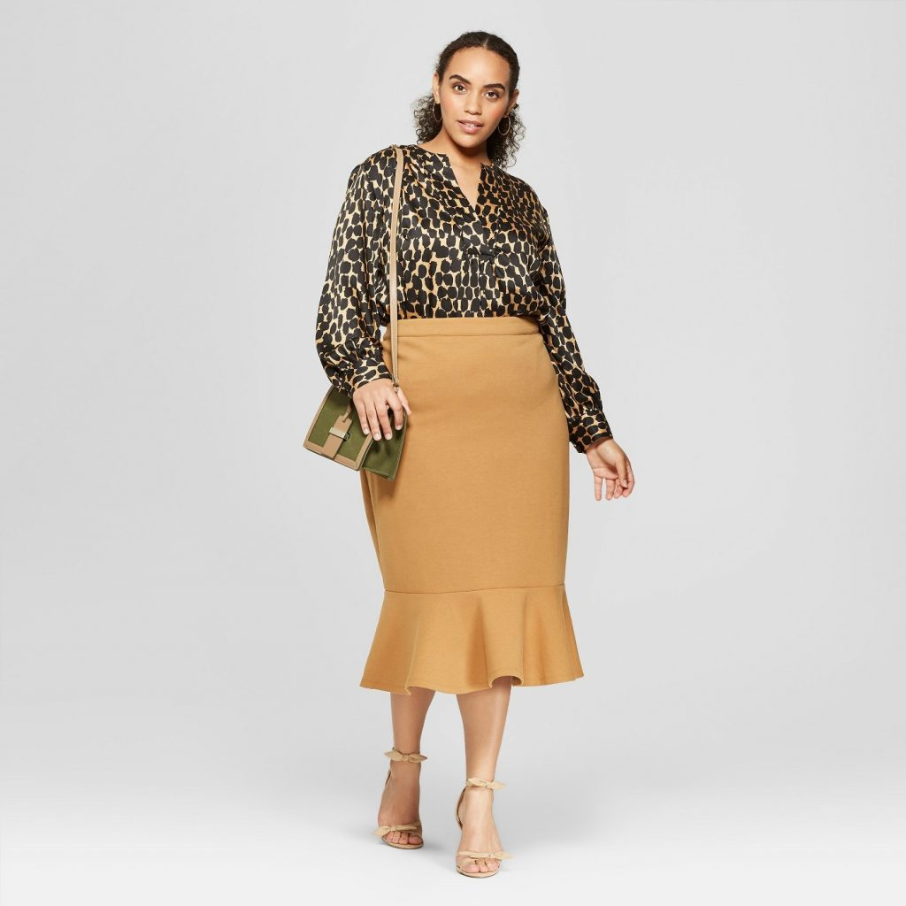 Love a Plus Size Leopard Print, then Check These Out- Long Sleeve Silky Boho Popover Top