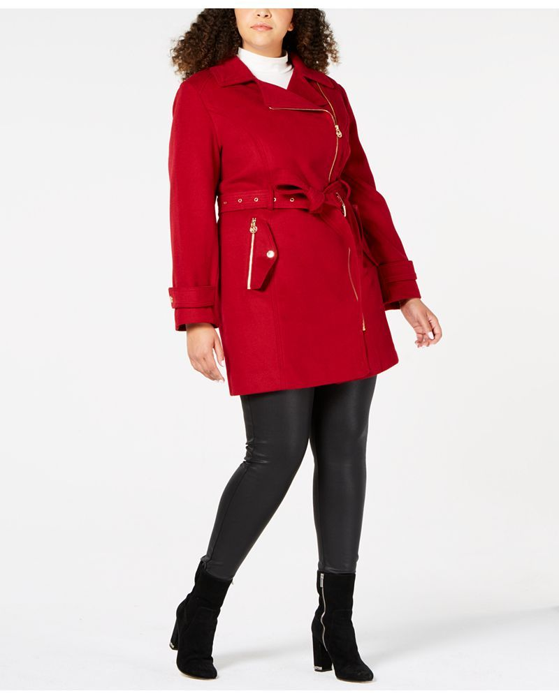 e7d6aa0da61 Fall s Bold Hued and Non Black Plus Size Coats to rock- MICHAEL Michael  Kors Plus