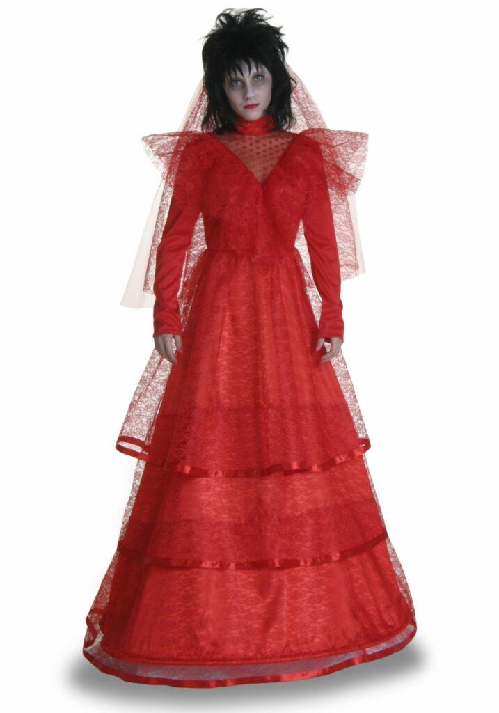Red Plus Size Gothic Wedding Dress Costume at HalloweenCostumes.com