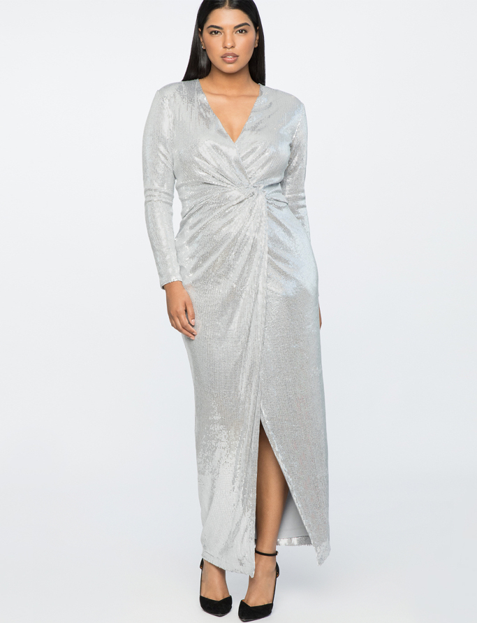 Jason Wu for Eloquii Plus Size Sequins Wrap Gown