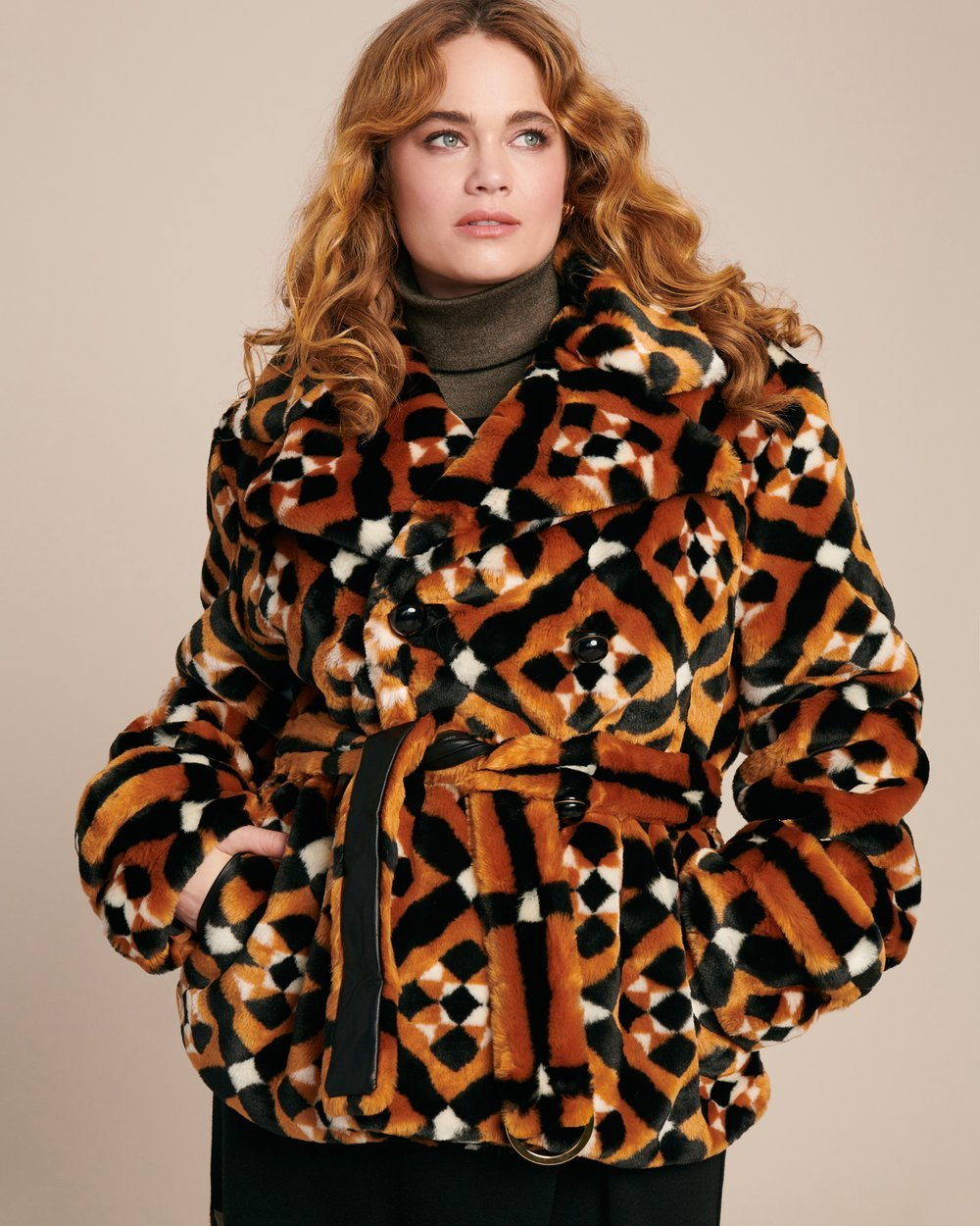 Luxury Plus SIze Fashion Finds at 11 Honore: MARY KATRANTZOU Oates Plus Size Coat with Faux Fur