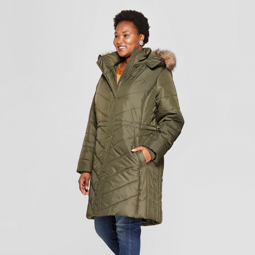9b9cb6ea239 25 Must Rock Plus Size Puffer Coats- Ava   Viv Plus Size Quilted Puffer  Jacket