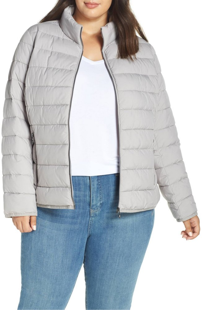 1e24733d1f5 25 Must Rock Plus Size Puffer Coats- Bernardo Water-Resistant Thermoplume  Insulated Jacket