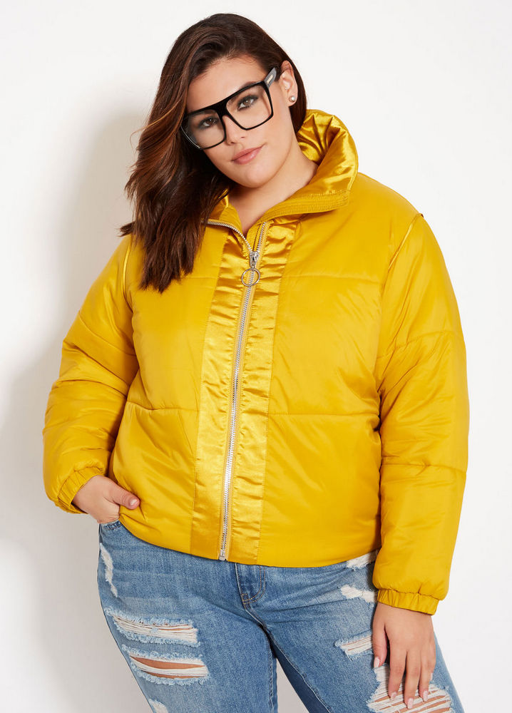 25 Must Rock Plus Size Puffer Coats- Cropped Puffer Coat