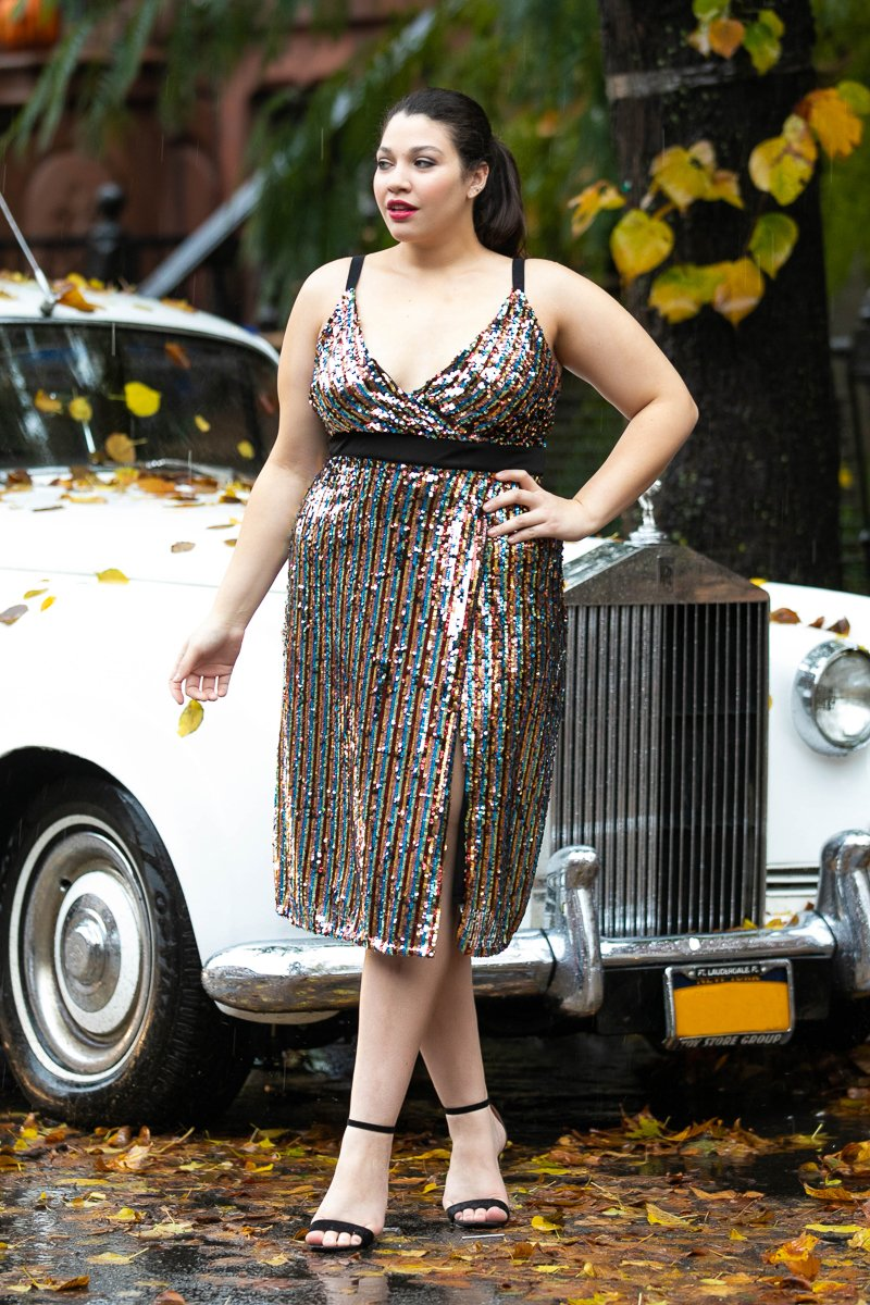 The Best Plus Size Sequins Finds for New Yea's Eve: Life Of The Party Sequin Midi Dress