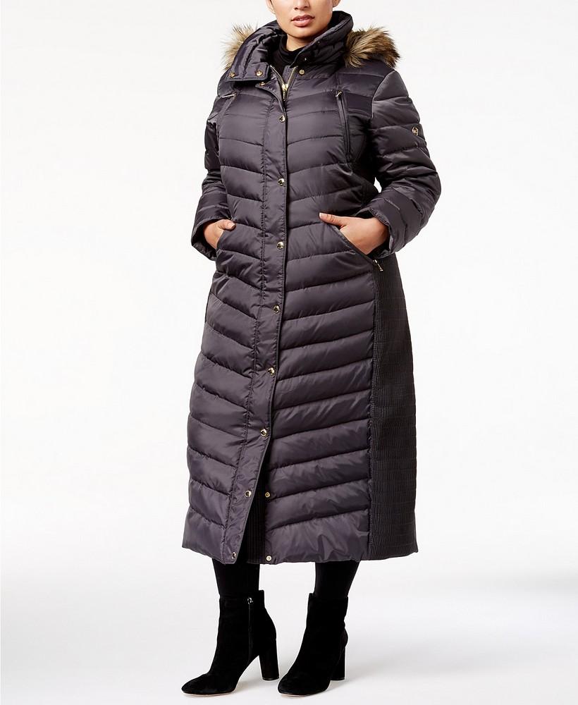 049e33463bf 25 Must Rock Plus Size Puffer Coats- MICHAEL Michael Kors Plus Size Faux-Fur