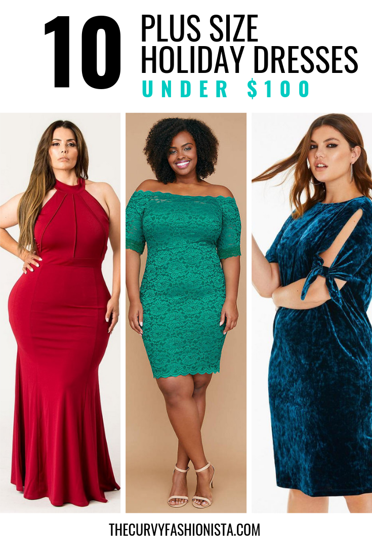 Plus Size holiday Dresses Under $100