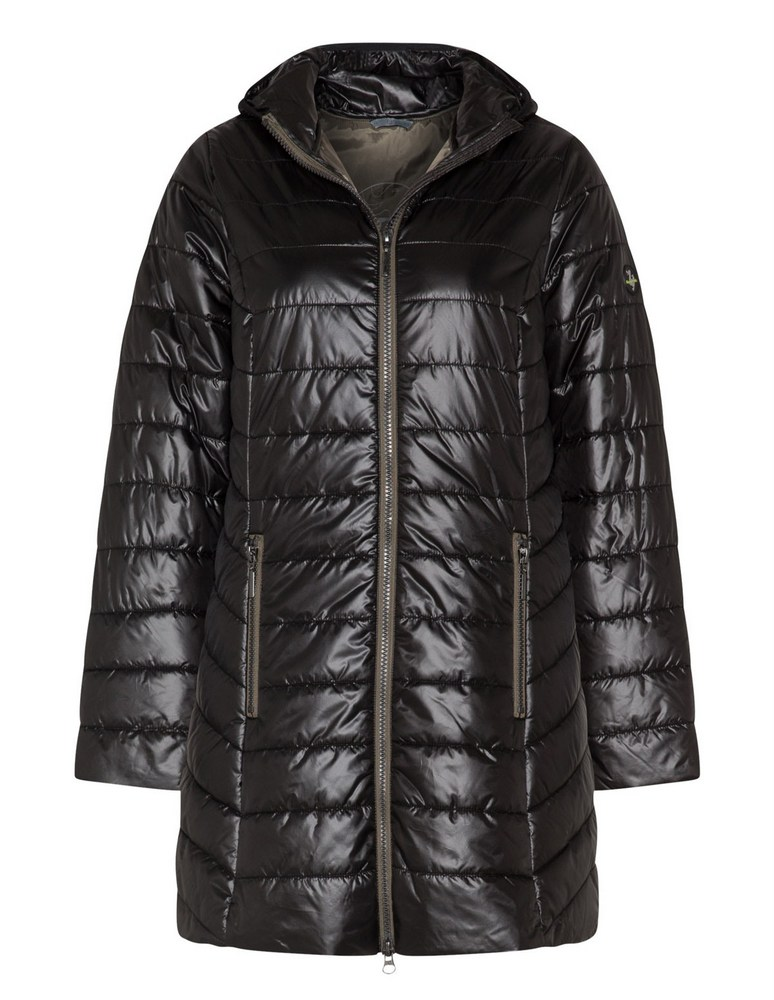 25 Must Rock Plus Size Puffer Coats- Plus by Etage Faux Down Quilted Jacket