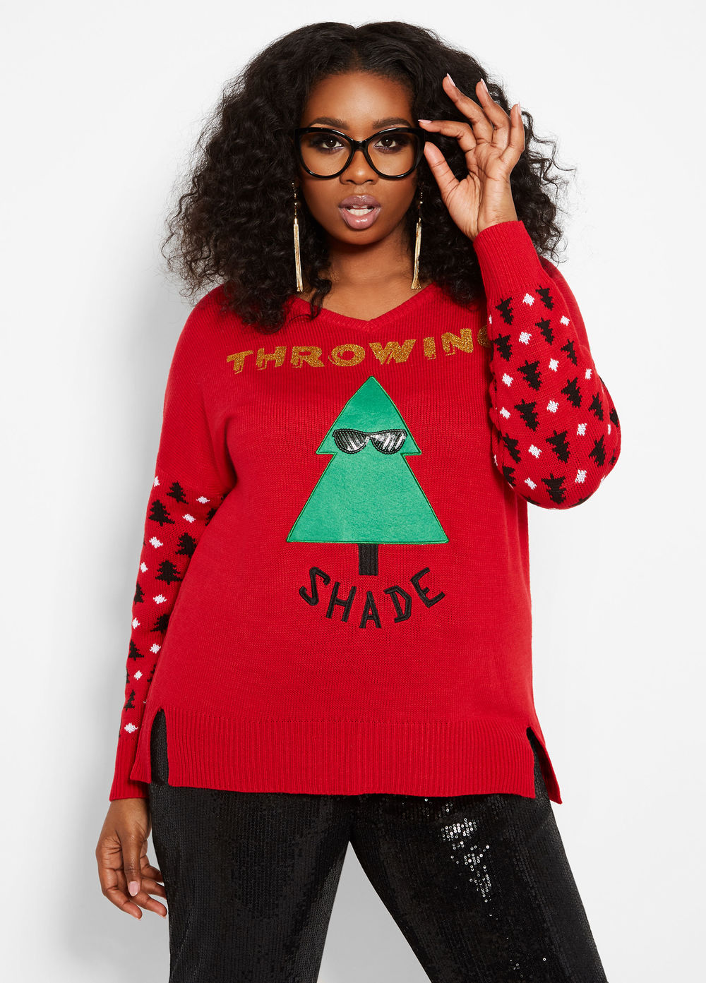 THROWING SHADE HOLIDAY SWEATER