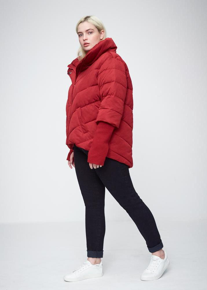 25 Must Rock Plus Size Puffer Coats- Tinos Short Puffer Jacket in SIenna