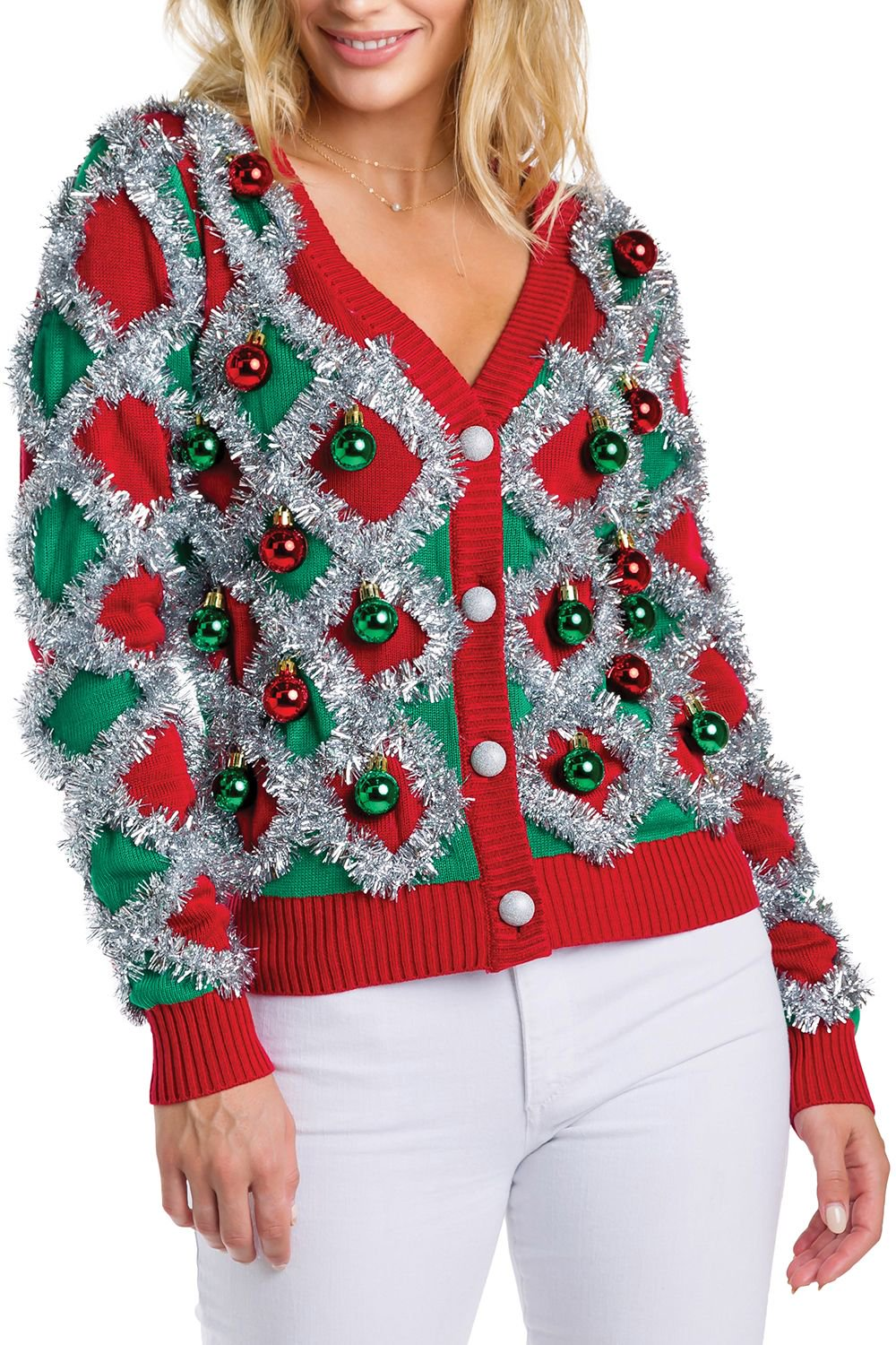 Women's Tacky Tinsel Cardigan