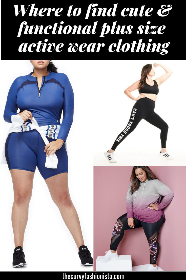 Where to find cute & functional plus size active wear