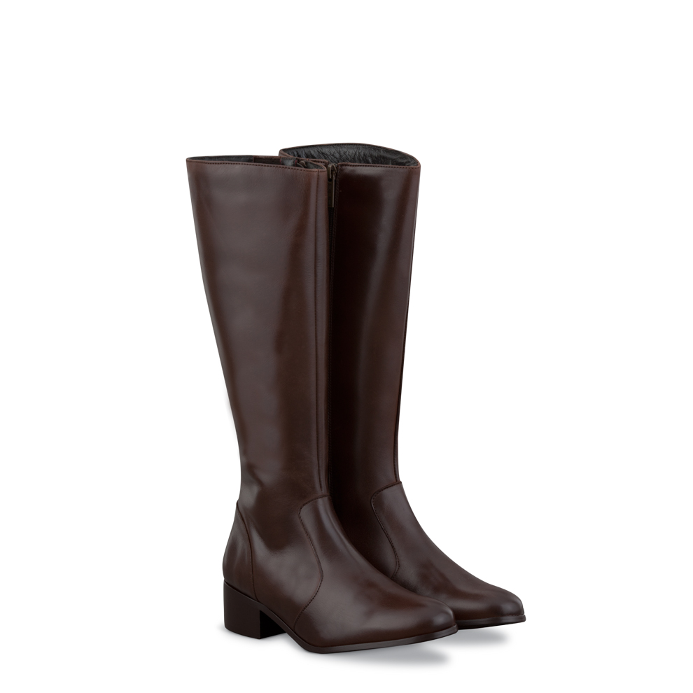Wide Calf Boots: Duo boots Beech