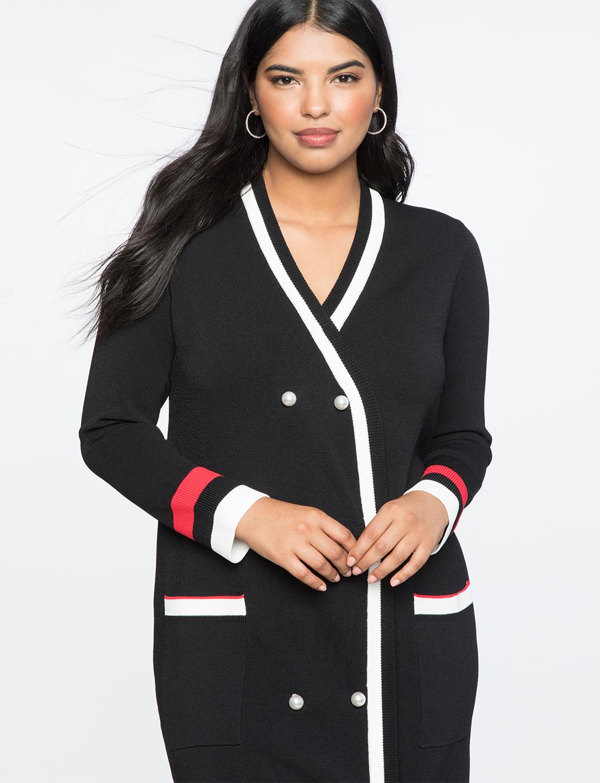 Plus Size Cardigan Sweater Dress