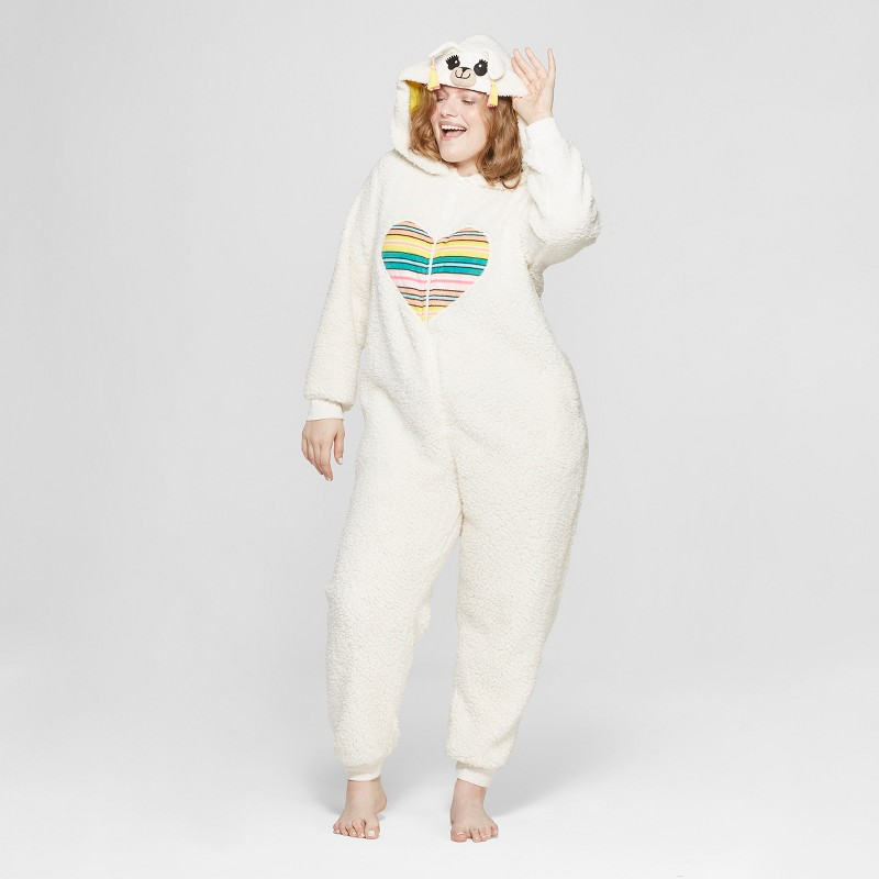 Plus Size Llama Union Suit
