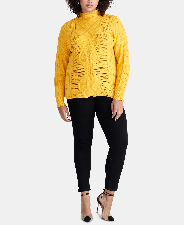 Plus Size Sweaters: RACHEL Rachel Roy Plus Size Chunky Cable Sweater