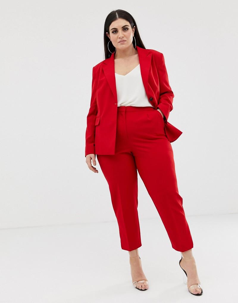ASOS DESIGN Curve red suit blazer