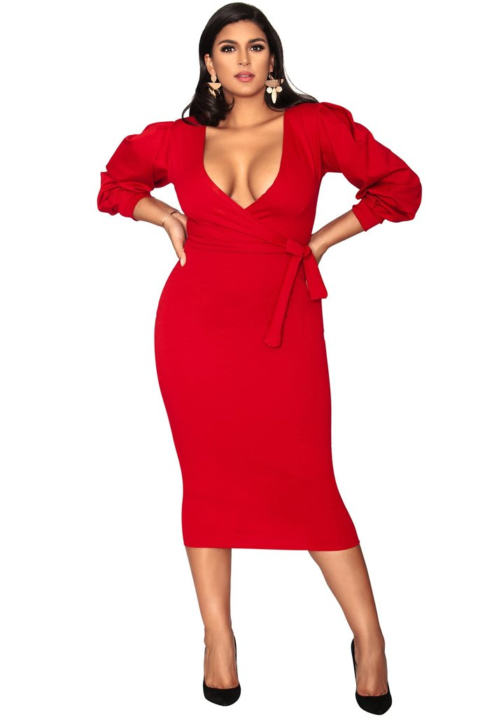 Candace Dress - Passion Red
