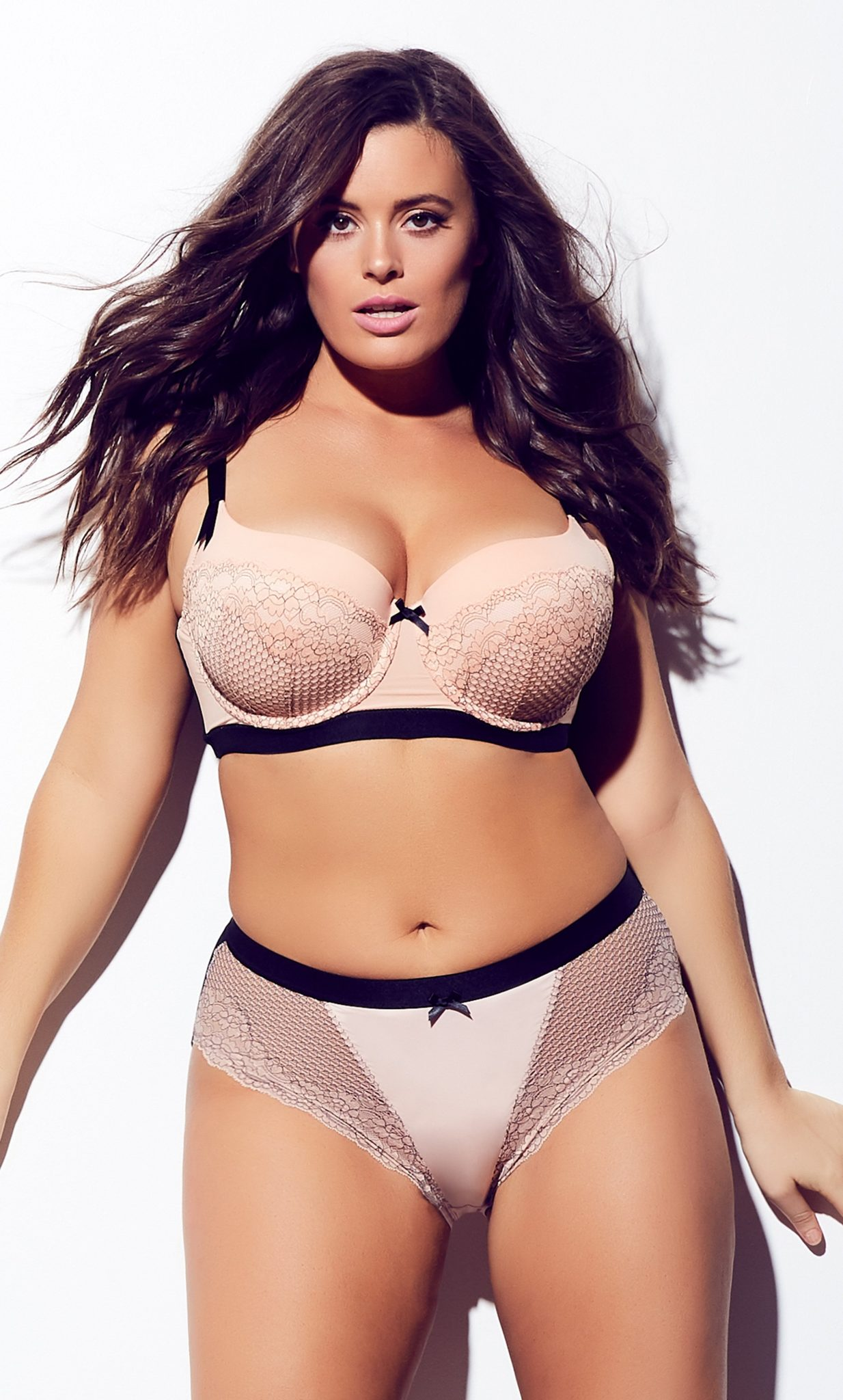 Plus Size Panties for Valentine's Day- Pink Nina Shorty