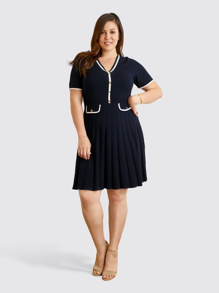 Draper James Launches Plus Sizes- Short Sleeve Sweater Dress
