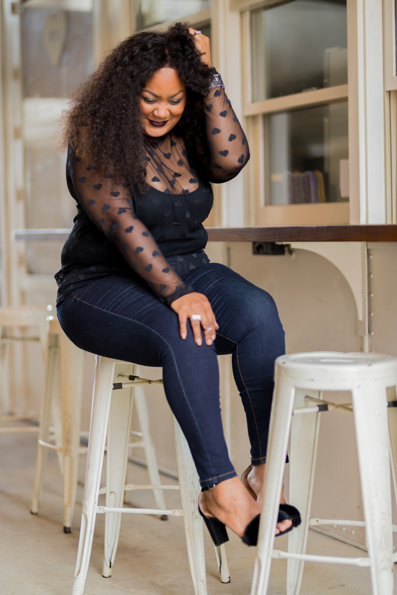 Valentine's Date Night Plus Size Denim Style with Lane Bryant