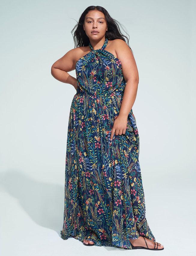 The Prettiest of Spring's Plus Size Dresses: Jason Wu x ELOQUII Halter Maxi Dress