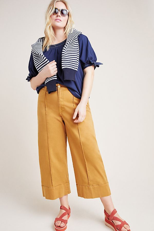 Pintucked Chino Pants by Anthropologie Aplus