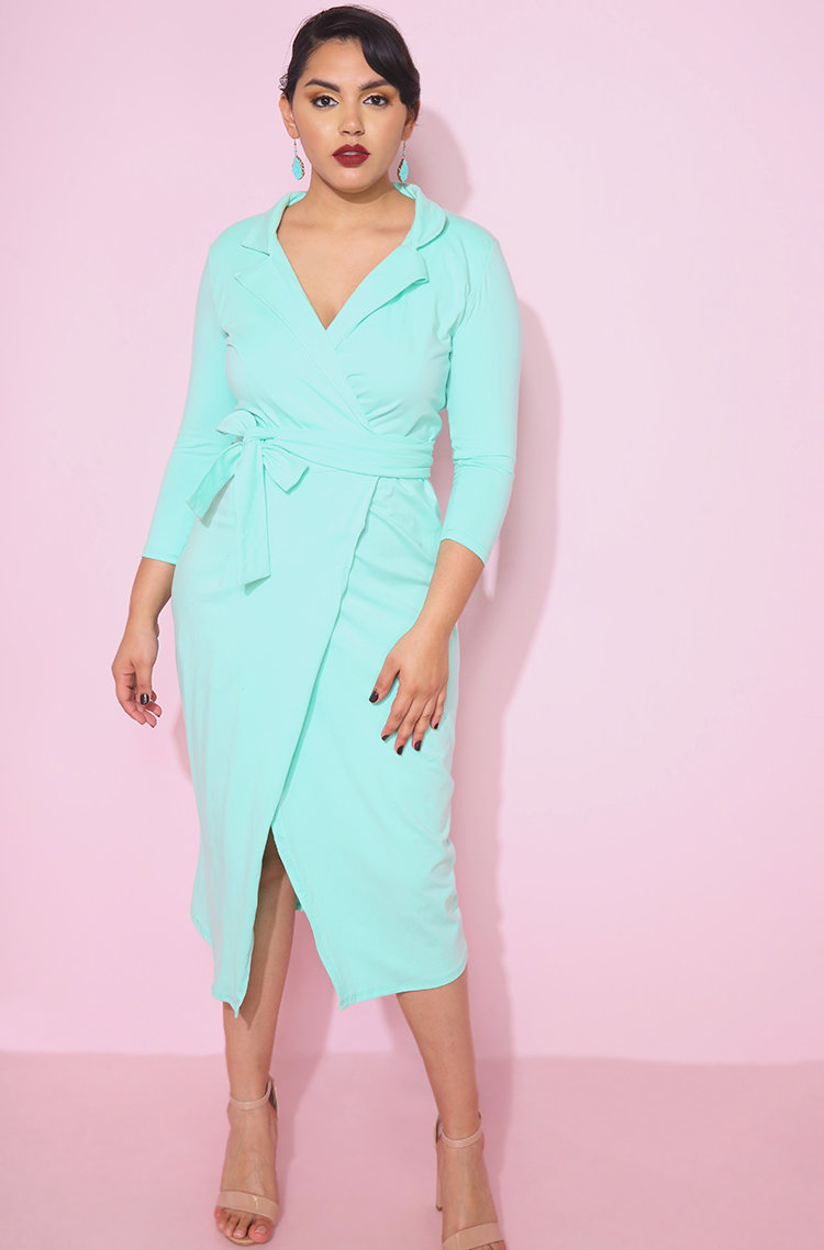 The Prettiest of Spring's Plus Size Dresses: Supposed To Be Blazer Midi Dress