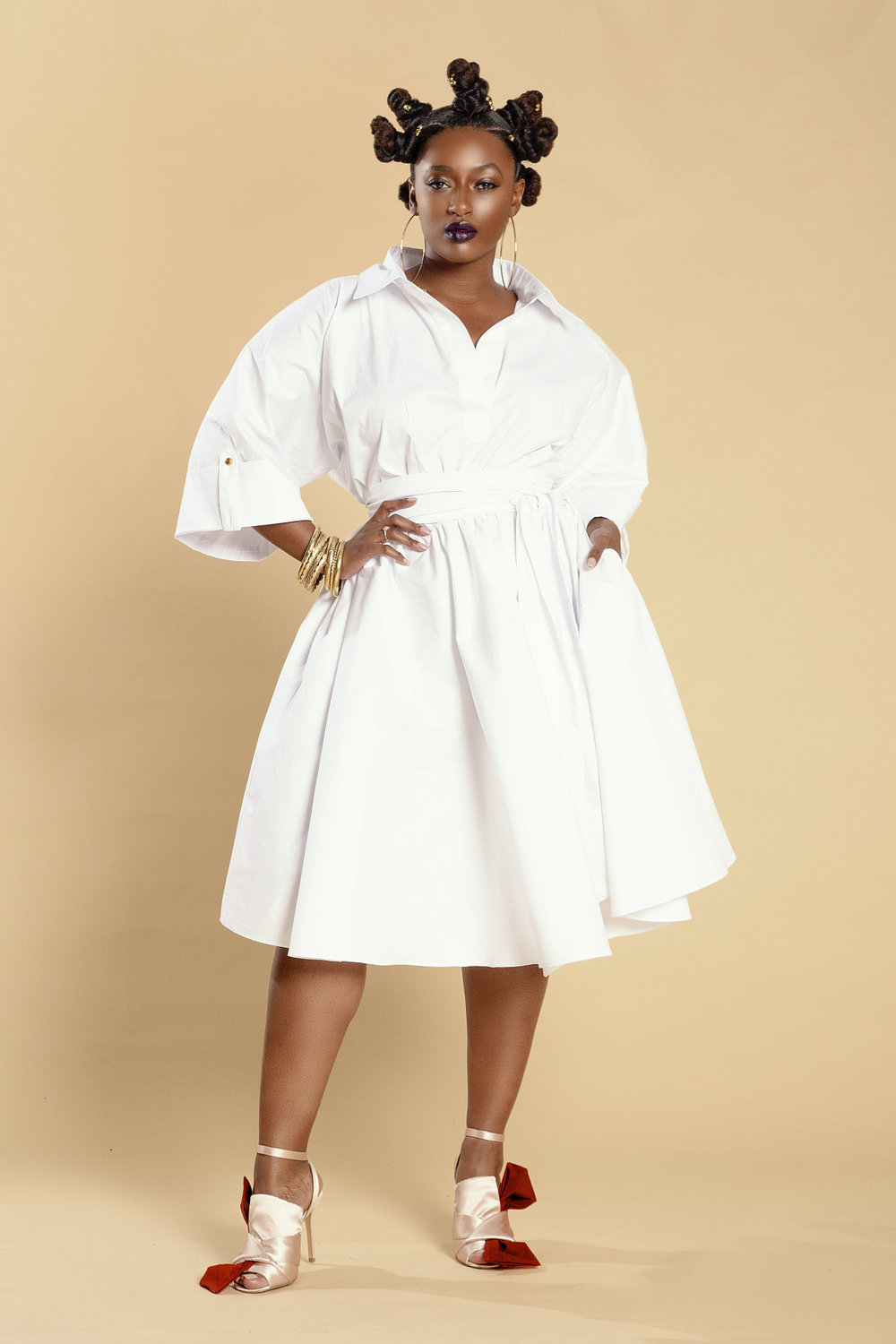 The Prettiest of Spring's Plus Size Dresses: White Shirt Dress