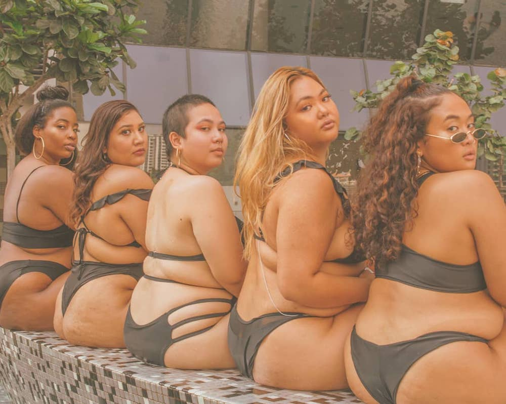 Plus Size Art: These Photos of Plus Size Asian Women Poolside are giving us LIFE!