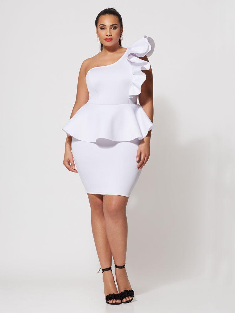 e2e176f248b2 7 Plus Size Spring Dresses from Fashion to Figure- Camille Drama Plus Size  Bodycon Dress